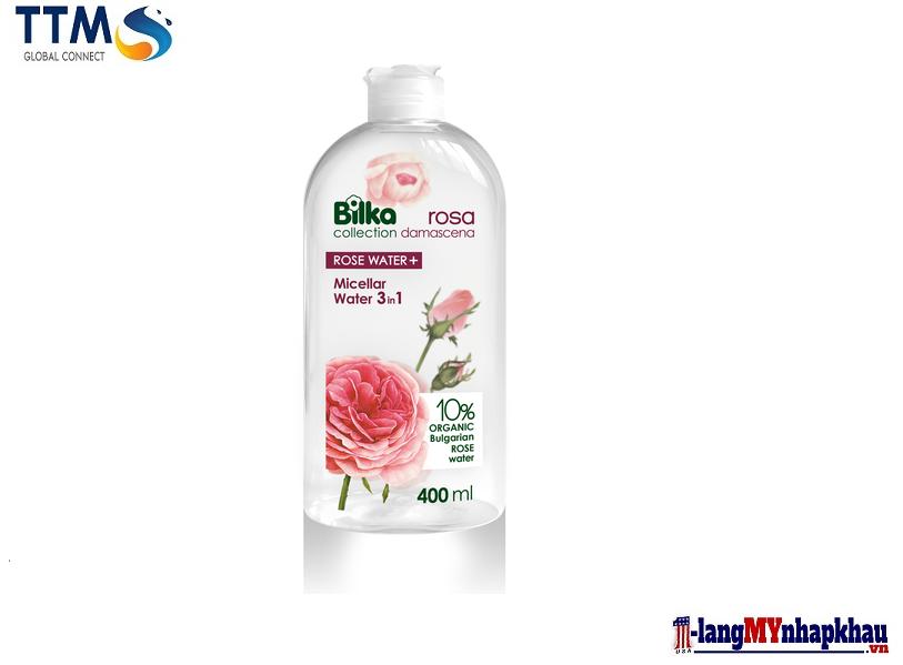 Nước tẩy trang Bilka Collection ROSA DAMASCENA MICELLAR WATER 3 IN 1